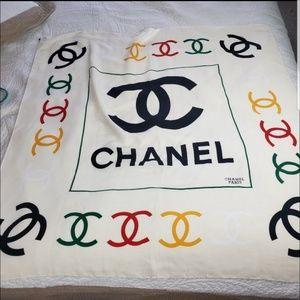 CHANEL Paris 100% Silk Scarf